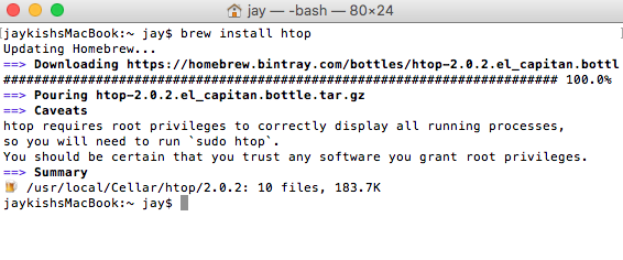 Installing packages with Brew on OSX 5