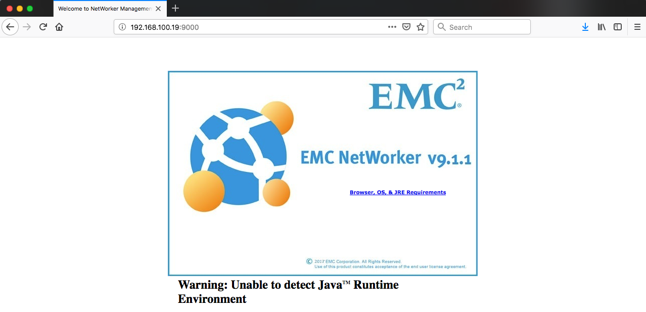 Installing the Networker Management Console (NMC) on CentOS 7 5