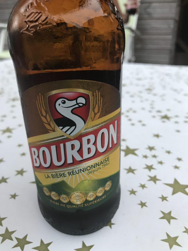 Beer made locally in Reunion island