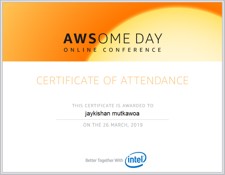 Attending AWSome day online conference 2019 9