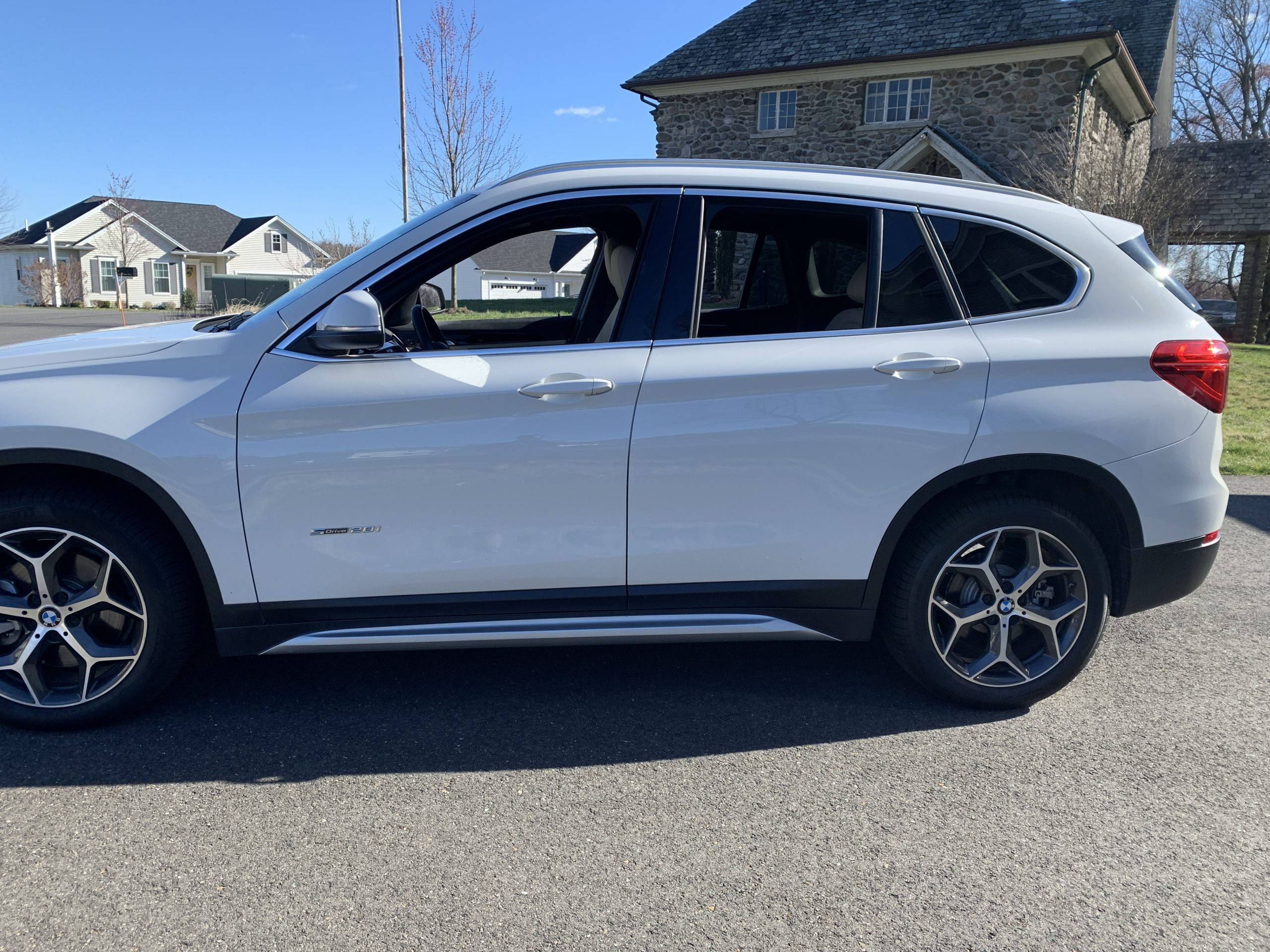 side view of my BMW X1
